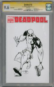 Deadpool #50 Blank CGC 9.6 Signature Series Signed Shawn Crystal Sketch Marvel comic